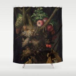 Giuseppe Arcimboldo - Four Seasons in One Head Shower Curtain