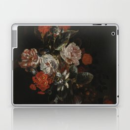 Jacob Campo Weyerman - Bouquet of flowers with roses, passion flower and bindweed - 1700-1720 Laptop & iPad Skin