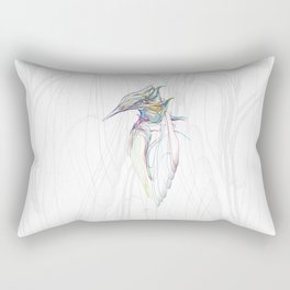 Kingfisher-1. Color lines on white background-(Red eyes series) Rectangular Pillow