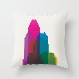 Shapes of Montreal. Accurate to scale. Throw Pillow