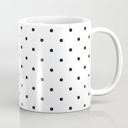 Little Dots Black on White Coffee Mug