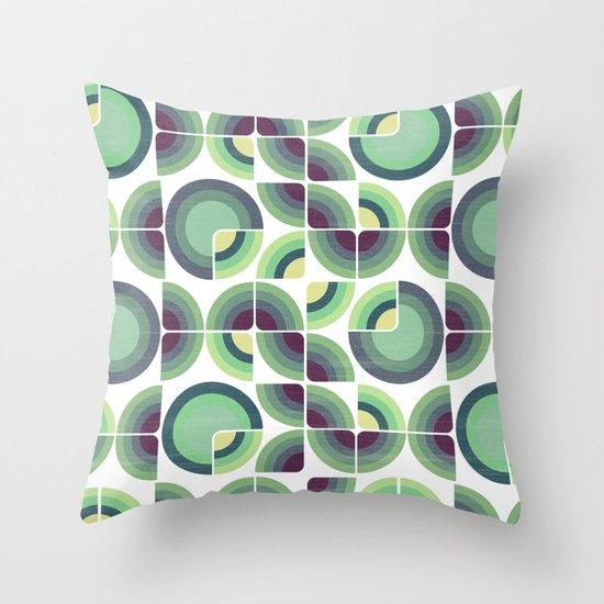 Green Fields Pattern Throw Pillow