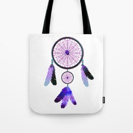 Dream Catcher Spider web halloween purple Boho style. Tote Bag