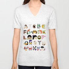 Child of the 70s Alphabet Unisex V-Neck