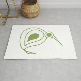 Green kiwi bird from New Zealand artist Rug