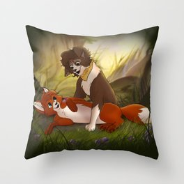 Fox & Hound Throw Pillow