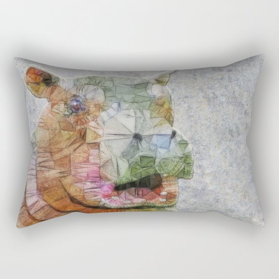 abstract hippo Rectangular Pillow