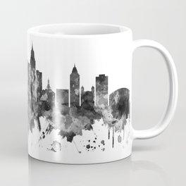 Mobile Alabama Skyline BW Coffee Mug