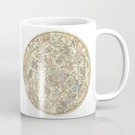 Zodiac chart of Northern and Southern constellations Coffee Mug