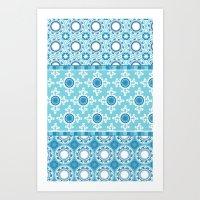 Bohemian Delight Blue Art Print