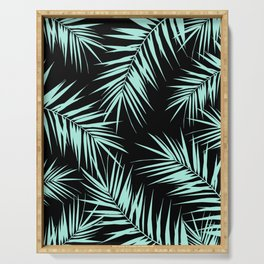 Palm Leaves Cali Finesse #4 #MintBlack #tropical #decor #art #society6 Serving Tray