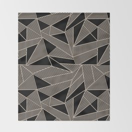 Geometric Abstract Origami Inspired Pattern Throw Blanket