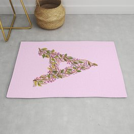 Leafy Letter A Rug