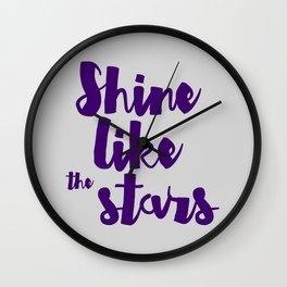Shine like the stars Wall Clock