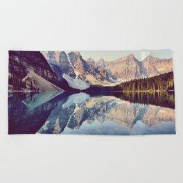 Moraine Lake Reflection Beach Towel