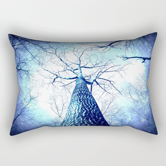 Winter's Coming : Wintry Trees Galaxy Skies Rectangular Pillow