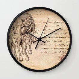Miskatonic Surgery - Cthulhu (Megalodon cephalopoides) Wall Clock