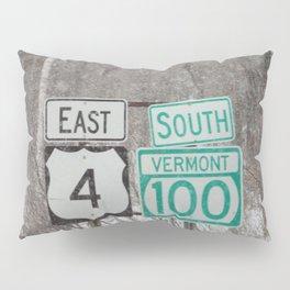 Vermont Street Signs Pillow Sham