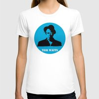 tom waits T-shirts featuring Tom Waits Record Painting by All Surfaces Design