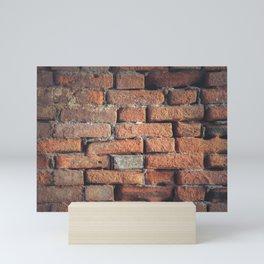 Weathered Red Brick Wall Texture Mini Art Print