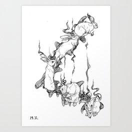 Rabbit Spirit Art Print
