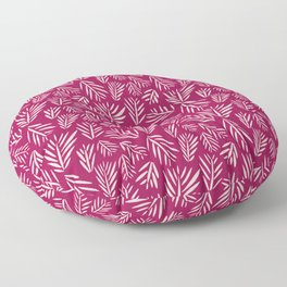 Palm Ink in Berry Floor Pillow