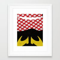 minnie mouse Framed Art Prints featuring minnie mouse minimal grunge... by studiomarshallarts