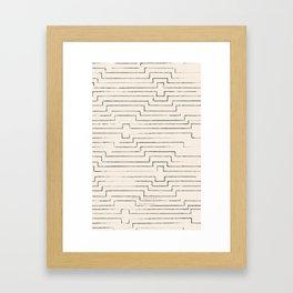 diamond ikat - all Framed Art Print