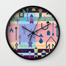 Up....Keep going! Motivational print with arrows Wall Clock
