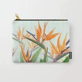 bird of paradise flower painting Carry-All Pouch
