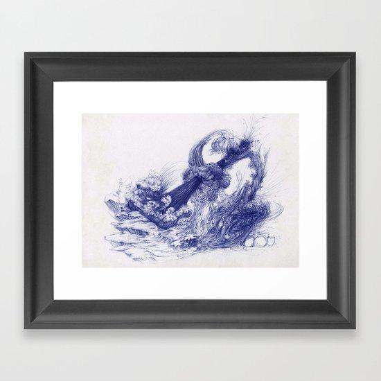 Wave Whip Framed Art Print