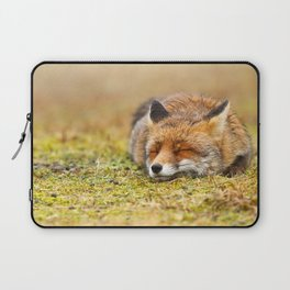 Comfortably Fox (red fox sleeping) Laptop Sleeve