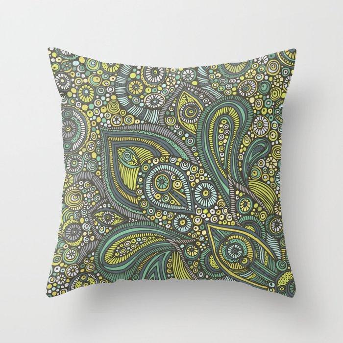 Blue safari Throw Pillow