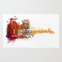 bass Area & Throw Rugs featuring Bass Guitar by jbjart