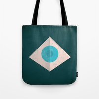 1984 Tote Bags featuring 1984 by Christian Jackson