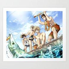 Final Fantasy - 15 Days of Fishing Art Print