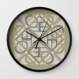 Interlaced Love Mandala - Warm Neutral Wall Clock