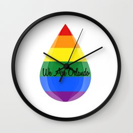 We Are Orlando Wall Clock