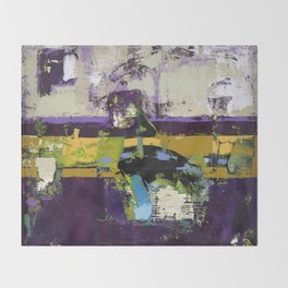 Controversy Prince Deep Purple Abstract Painting Modern Art Throw Blanket