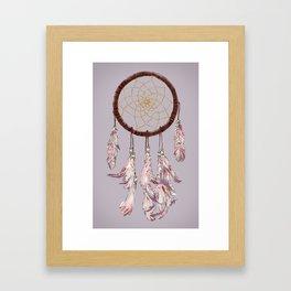 dreamcatcher purple Framed Art Print