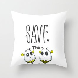Save The Boobees Breast Cancer Awareness Throw Pillow