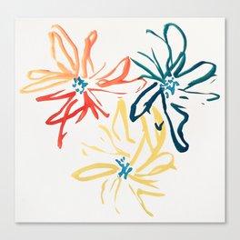 Gestural Blooms Canvas Print