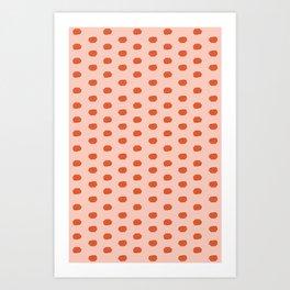 tomato dots Art Print
