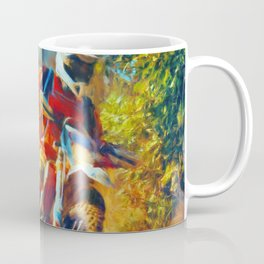 Motor Bike Sport Race Painting Coffee Mug