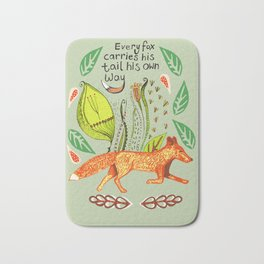 Every Fox...fox, sayings, typography, quote, nature, leaves Bath Mat