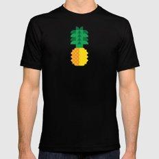 Fruit: Pineapple Mens Fitted Tee Black MEDIUM