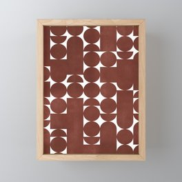 Retro Graphic Print, Geometric Pattern Framed Mini Art Print