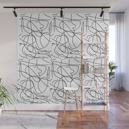 One Line Wall Mural