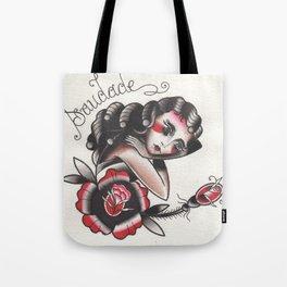 Saudade Traditional Watercolor Tattoo Flash Tote Bag