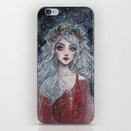 Christmas elf iPhone Skin